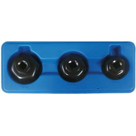 BGS technic 3 részes olajszűrő leszedő kupak készlet, kis méret (BGS 1037)