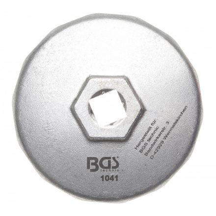BGS technic Olajszűrő leszedő kupak, öntött alumínium, 74mm X 14 lap (BGS 1041)
