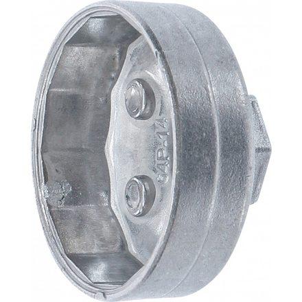 BGS technic Olajszűrő leszedő kupak, öntött alumínium, 64 mm x P14 (BGS 1042)