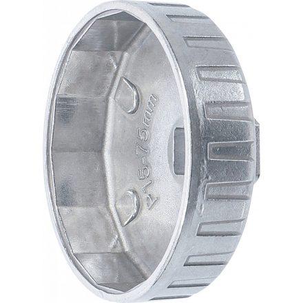"""BGS technic Olajszűrő leszedő dugókulcsok, alumínium fröccsöntött, 1/2"""", 75mm x P15 (BGS 1045)"""