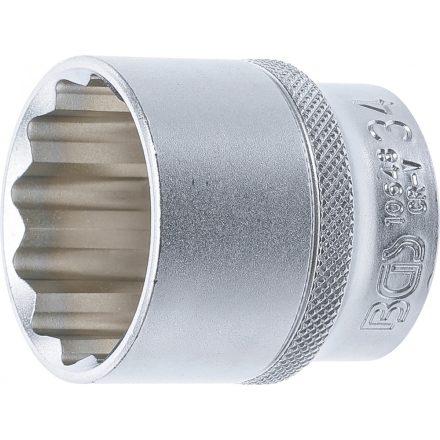 """BGS technic 1/2"""" Dugókulcs, 12-szögű, 34 mm (BGS 10648)"""
