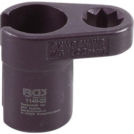 """BGS technic Dugókulcs fej oxigén szenzorhoz, 22 mm (7/8"""") x 50 mm, 1/2"""" hajtás (BGS 1140-22)"""