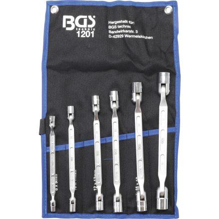 BGS technic 8 részes dupla csillagkulcs készlet flexibilis fejjel (BGS 1201)