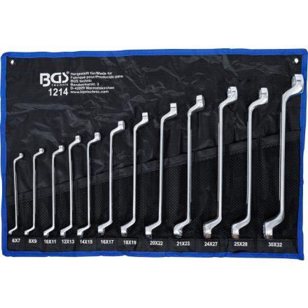 BGS technic 12 részes mély, hajlított csillagkulcs készlet 6x7 - 30x32 mm (BGS 1214)