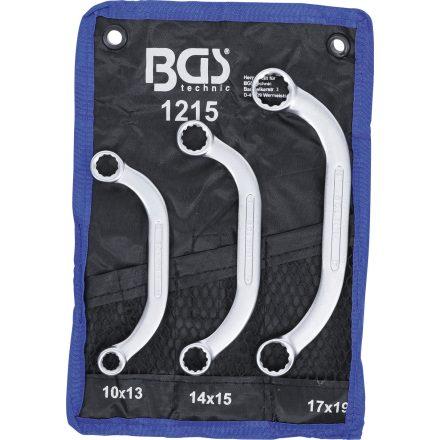 BGS technic 3 részes indítókulcs készlet 10x13 - 17x19 mm (BGS 1215)