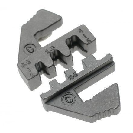 BGS technic Krimpelő befogópofa nyitott kábelsaruhoz a BGS 1410, 1411, 1412 azonosítójú termékekhez (BGS 1410-C)