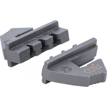 BGS technic Krimpelő befogópofa nyitott kábelsaruhoz a BGS 1410, 1411, 1412 azonosítójú termékekhez (BGS 1410-C1)