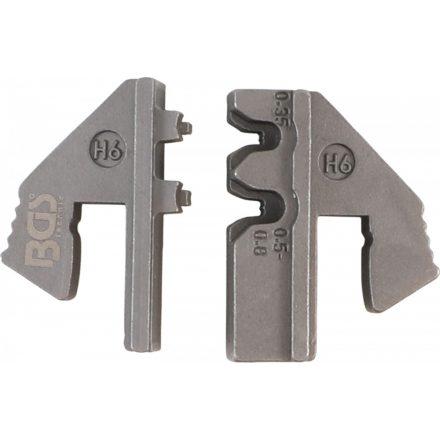 BGS technic Krimpelő pofa vízálló csatlakozóhoz (H6) | a BGS 1410, 1411, 1412 krimpelőkhöz (BGS 1410-H6)