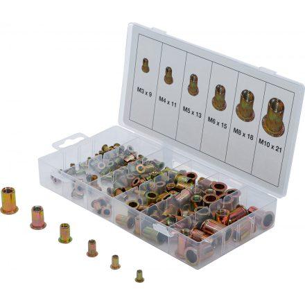 BGS technic 150 részes galvanizált szegecsanya készlet (BGS 14126)
