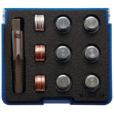 BGS technic Olajleeresztő csavar menetjavító készlet, M13x1.5 (BGS 156)