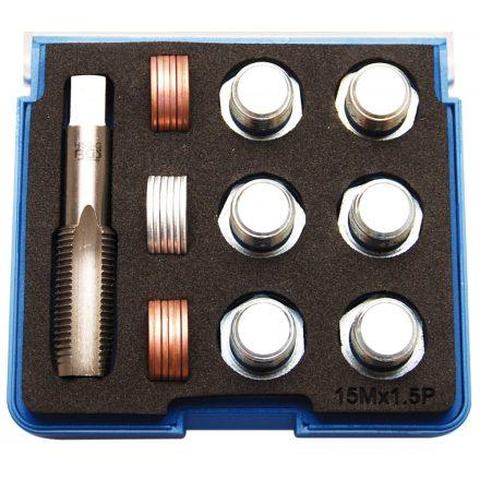 BGS technic Olajleeresztő csavar menetjavító készlet, M15x1.5 (BGS 157)
