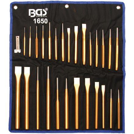 BGS technic Kiütő és véső készlet 28 részes (BGS 1650)