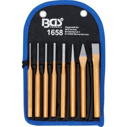 BGS technic 8 részes forgácsoló készlet vésővel és pontozóval (BGS 1658)